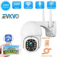 Zoom IP Camera EVKVO 3MP Outdoor Wifi PTZ digitale 4X Wifi telecamera di sicurezza esterna impermeabile di sorveglianza CCTV Yoosee