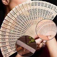 1PC Китайский ручной вентилятор Деревянные ароматическая Свадеб подарков Bamboo вентилятор Свадебные украшения партии Handcraft