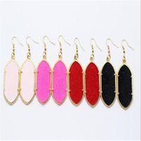 Kendra stil signatur örhängen bling bling geometri uttalande örhängen mode dangle örhängen för kvinnor ps1838