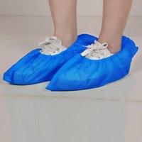 Комплектующие для обуви Аксессуары 50 Пара Одноразовый Крышка Дышащий пылезащитный Голубые Водонепроницаемые Крышки Пластиковые Невыровневые Охрана Охрана1