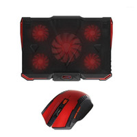 2.4GHz Wireless 2400DPI Gaming ottico Mouse Rosso + Black Laptop Cooler Pad Per Air / Pro (rosso) 1