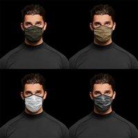 التمويه قناع الوجه الأزياء تنفس الغبار وقابل للغسل قابلة لإعادة الاستخدام أقنعة جافة سريعة للجنسين شبكة الدراجات قناع CCA12463 120pcs 25 N2