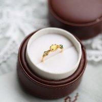 S925 zilveren luxueuze kwaliteit charme ring met natuurlijke amber kristal groene onyx olijven voor vrouwen bruiloft sieraden gift PS889