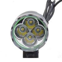 المصباح 5200lm 4 * XM-L T6 الصمام دراجة أضواء دراجة ضوء سبائك الألومنيوم للماء ركوب الدراجات كشافات المصباح المصباح مصابيح