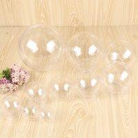 Ornamente Hohe transparente Kugel Kugel Runde Kunststoff-Hang hohle Kugel-Hochzeit Süßigkeiten Verpackung Blumen-Geschenk-Kasten VT1788