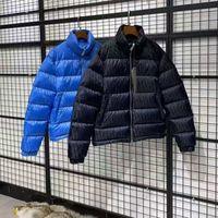 Markalı Erkekler Aşağı Ceket Mektubu Aplikler Tasarımcı Erkek Kış Sıcak Çift Fermuar Dış Giyim Moda Beyler Standı Yaka Aşağı Ceket