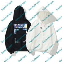 Moda Hip Hop Starry Sky Print Mens Sudaderas con capucha X Impreso Hoodie Unisex Mujeres Casual Harajuku Pullovers Streetwear Plus Cashmere