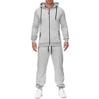 Mens Sportwear 슈트 스웨트 트랙 슈트 인쇄 까마귀 남성 캐주얼 액티브 슈트 지퍼 outwear 2PC 자켓 + 바지 스포츠