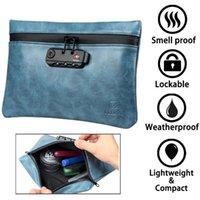 Borse a prova di odore con serratura a combinazione di cuoio del fumo di smoking Stash Stash Deposito di contenitore contenitore contenitore1