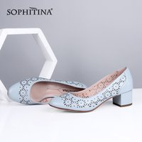 SOPHITINA New Hollow- Out Design Pumps Women Office High Qual...