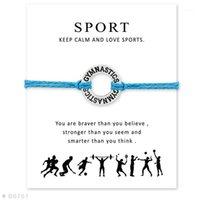 Bracelet de charme réglable de gymnastique Calisthéniques Bracelet avec carte pour femmes hommes Girls cadeau meilleur cadeau pour Sporter1