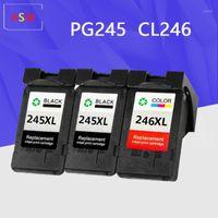 KANON PG-245 XL için yeniden üretilmiş mürekkep kartuşları PG-245XL PG 245 PG245 CL-246XL CL246 PIXMA IP2820 MX492 MG2924 MX492 MG25201