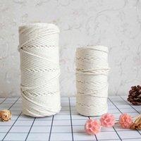 Filato a maglia a maglia a mano Cavo di decorazione domestica Accessori per la decorazione domestica 3mm 4mm corda di cotone corda di cotone e artigianato craftsdiy knot cinese cavo1