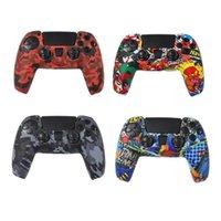 Colourfull 위장 실리콘 케이스 카모 실리카 쉘 보호 스킨 케이스 소니 DUALSHOCK 5 PS5 DS5 프로 슬림 컨트롤러
