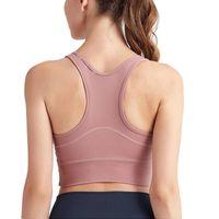 Camisoles tanques yogaworld mulheres underwears ioga fitness underwear almofada de mamário correndo ao ar livre secagem rápida à prova de choque esportes de volta Brayogaworld