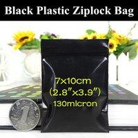 """200pcs 7x10cm (2.8 """"X3.9"""") Kleine Soft Black Zip Verpackung Beutel Lichtdichte Lebensmittel / Kaffee- / Pouch Antianlauf- Schwarz PE Aufbewahrungstasche"""