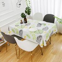 Mesa de mesa de estilo de país PVC mantel lavable impermeable a prueba de aceite Tabla rectangular cubierta Restaurante Mesa de centro