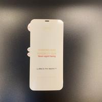 Protetor de tela de filme de hidrogel macio para iPhone 12 mini 11 pro máx x xs xr 8 7 6s mais nenhum pacote