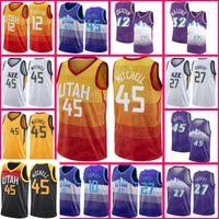 Donovan 45 Mitchell UtahcazJersey John 12 Stockton Karl 32 Malone Rudy 27 Gobert Mike Joe Conley Ingles Ricky 3 Rubio Basketbol