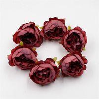Couleur riche de fleurs artificielles paysages de fleur tête de mariage fête anniversaire fête murale artisanat fournitures accessoires 0 52YJ E2