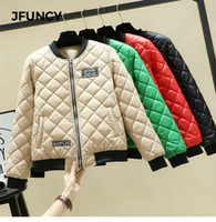 JFUNCY Winter Light Jacket for Women Korean Woman Parkas Fem...