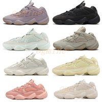 Desert Rat 500 Soft vision bone white Running Shoes mens womens moon yellow Utility Black Salt Kanye West Sports Sneakers 5d4a2f75a#