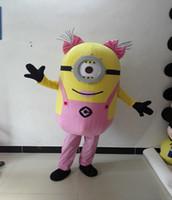 Pequeño hombre amarillo dibujos animados disfraz despreciable me propaganda caminando cos rendimiento acoplamiento accesorios mascota traje