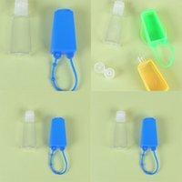 Yıkanabilir El Dezenfektanı Depolama Şişeleri Plastik Şeffaf Kadınlar Makyaj Conatiners Silikon Durumda 30 ml Cep Şişesi 0 95 HS E19
