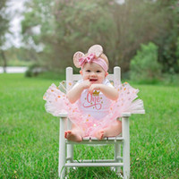 Baby Girl Pink Tutu Cake Outfits Infant Baby Girls Birthday ...