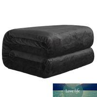 Beddowell franela Coral Fleece Blanket Poliéster Color Negro 5 Tamaño de visón banda Sofá de la tela escocesa de hoja suaves mantas de la cama