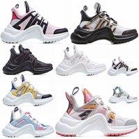 2021 Hot Fashion Designer Casual Dad Shoes Block Arclight Genuine Pelle Sneakers Mesh Black Breas Traspirante Arco Alta Suola Piattaforma Shoe D6L #