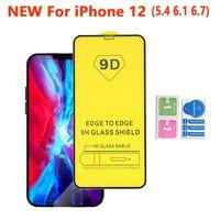 9D completa curvo anti-graffio dello schermo in vetro temperato protezione per Iphone 12 Pro Max 11 XS MAX XR X 8 7 6 più Samsung A01 A11 A21 A31 A41 A21S