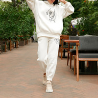 Print Oversized Hoodietwo Piece Sets Women Fleece Tracksuit ...