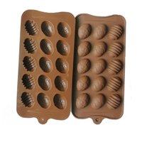 Silikon 15-Loch Ei-geformt DIY-Schokoladenform Mini-Ostereier-Küche dekoriert Werkzeuge handgemachte Lutscher Toffees Candy Mold-Geschenke G11302