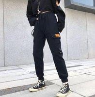 Pantalones para mujer Capris Big Bolsets Cargo Mujeres Cintura Alta Cintura Sleed Streetwear Baggy Táctico Pantalón Hip Hop Calidad Joggers1