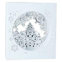Tarjetas de Navidad 3D para arriba Navidad Santo Snow Copo de nieve Hecho a mano Tarjetas de felicitación de encargo regalos de souvenirs postales1