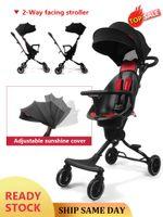Cochecitos # Deluxe Baby Stroller Wagon Portable Coche plegable Lightweight Carriage