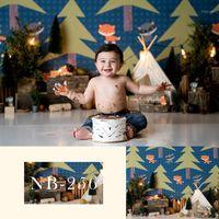 Neoback Neonato Fotografia da sfondo Baby Shower Background per Photo Studio Forest Birthday Party Banner1
