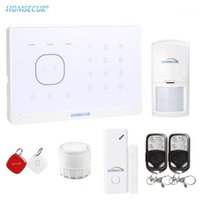HomeSecur Sem fio GSM RFID Home Security System com SOS Intercom1