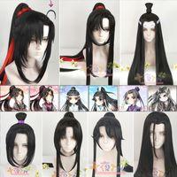 Diocos anime mo dao zu shi grandmaster of demonic cultivation wei wuxian cosplay peluca para fiesta de halloween lj200930