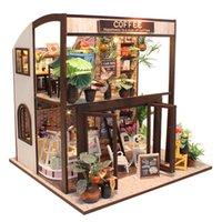Cutebee Doll House Миниатюрный DIY Домик с мебелью Деревянные Дом Домик Жиль Игрушки для детей День рождения Подарок LJ201126
