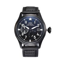 Luxusdesigner neue Männer Automatische mechanische klassische große Pilot 46mm Le Petit Prince Black Leather Watch Montre de Luxe