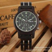 Assista Yisuya multi criativo nova função de madeira cronógrafo relógio masculino