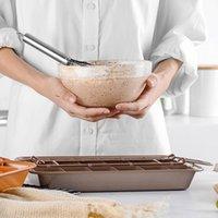خبز 18 تجويف الفولاذ المقاوم للصدأ أدوات الخبز للانفصال مربع شعرية غير عصا الشوكولاته الخبز كعكة العفن الخبز عموم VTKY2235