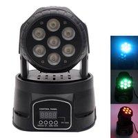 Marka Yeni 80 W 7-RGBW LED Oto / Ses Kontrolü DMX512 Mini Hareketli Kafa Sahne Lambası (AC 110-240 V) Siyah Yeni Yüksek Kalite Sahne Aydınlatma