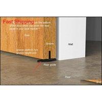 5ft / 6ft / 6.6.6ft / 8ft الفولاذ المقاوم للصدأ الحديثة الداخلية الخشب انزلاق حظيرة الباب الأجهزة t qylcsw new_dhbest