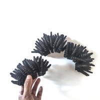 패션 브라질 버진 인간의 머리카락 자연 검은 짧은 스타일 8-12inch Afto 곱슬 머리가 버마어 인도 레미 헤어 ExtensionsFactory 아웃