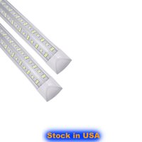 LED 튜브 8FT 4FT 5FT 6FT LED T8 통합 튜브 쿨러 도어 양면 SMD2835 LED 형광 튜브 라이트 미국