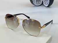 RC 1091 Nuevas Gafas de sol Top Mujeres y Hombres Roberto Dark Brown Snake Print Glow Brown Gafas de sol UV Protección Uval Marco Ven con estuche