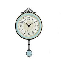 Orologio da parete dell'orologio da parete dell'annata dell'orologio del pendolo dell'Orologio dell'Europa Creativo Classic Quartz Silenzioso Horloge Soggiorno della casa Decor Art Spedizione gratuita